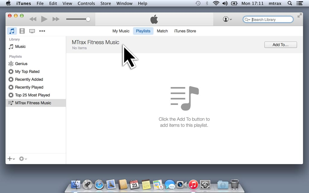 Open iTunes and create a playlist.