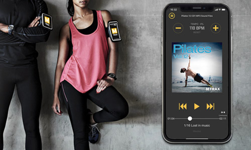 Free MTrax Fitness Music App, the advanced music player for fitness professionals